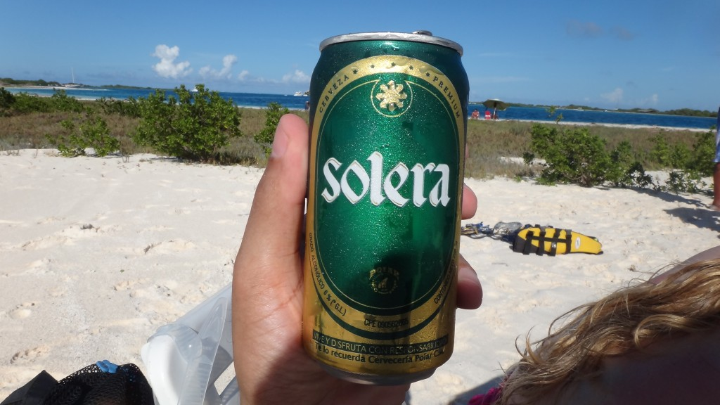 Solera beer. Good and cheap, like almost everything in Los Roques!