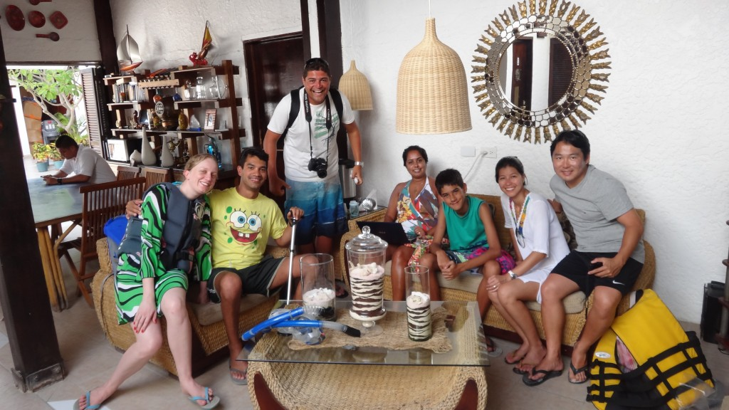 Friends made in Los Roques, all brazilians!
