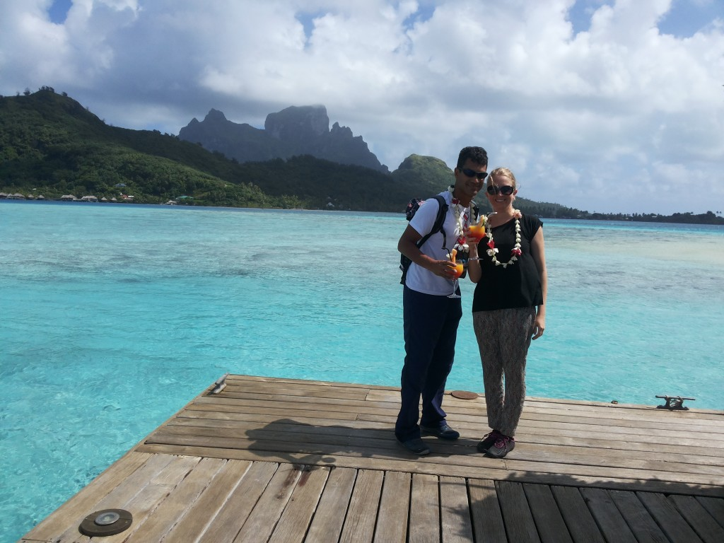 Boas-vindas no Sofitel Bora Bora Private Island